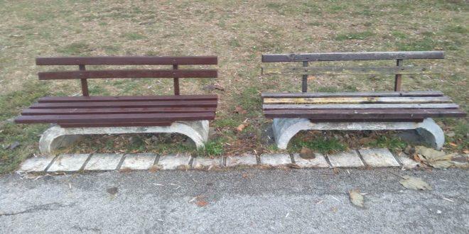 Uređene klupe u Čairskom parku