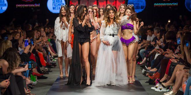 Ena Popov prvi put sa ćerkama u javnosti na Serbia Fashion Week