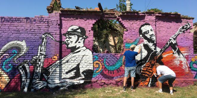 Niški umetnici oslikali zidove izgorelih ateljea u Tvrđavi