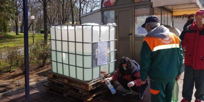 Rezervoari sa dezinfekcionim sredstvom na još 5 lokacija u Nišu