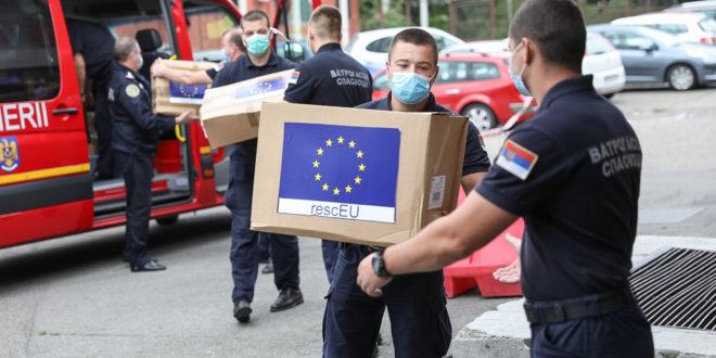 10,000 anti-covid maski stiglo u Srbiju iz EU